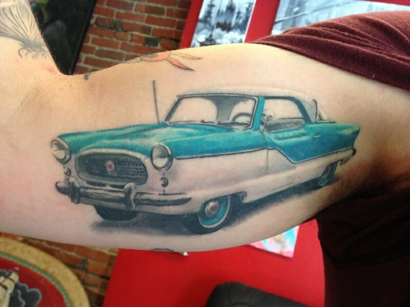 Car Old School Tattoo And Piercing